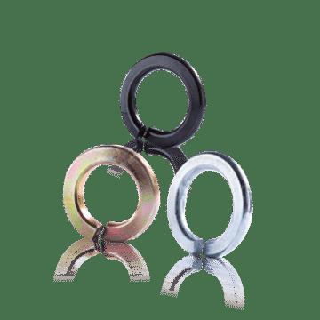 แหวนสปริงดำ-ชุบขาว-สีทอง